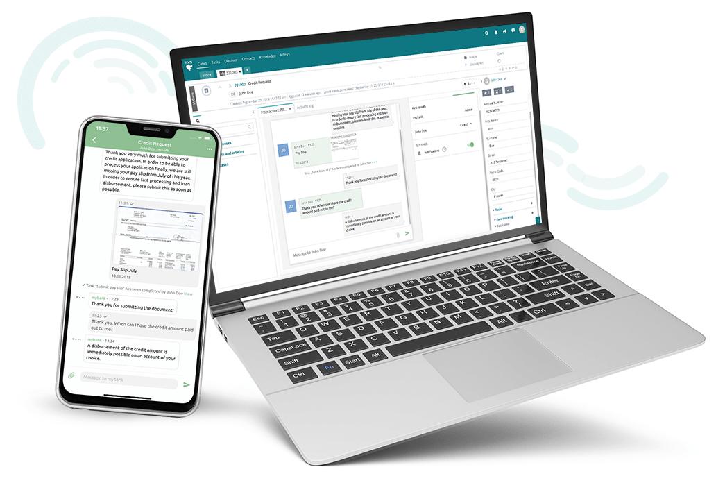 Kunden App fileee ist in Helpdesk ThinkOwl integriert